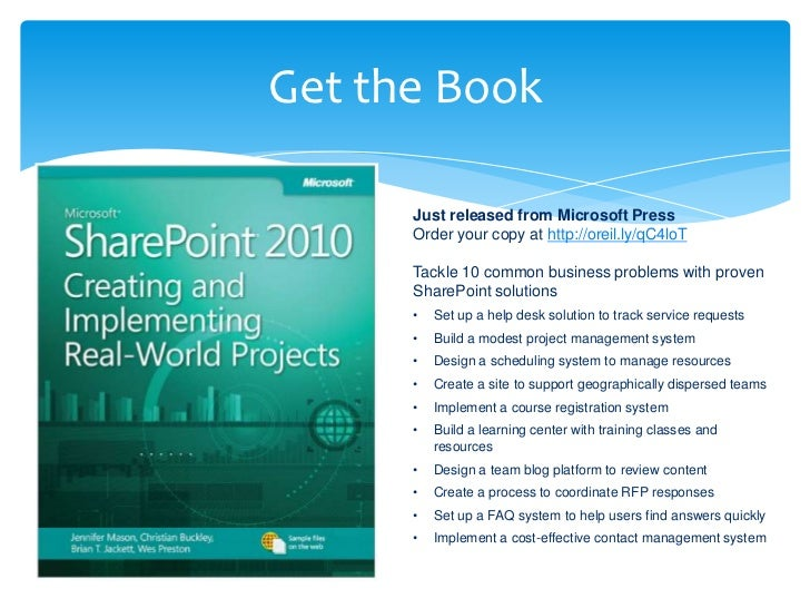 Get the Book      Just released from Microsoft Press      Order your copy at http://oreil.ly/qC4loT      Tackle 10 common ...