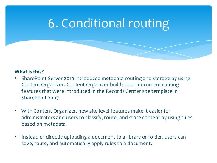 •   When you go back to the site, youll also notice that a Drop Off Library has been    created. This is your documents po...