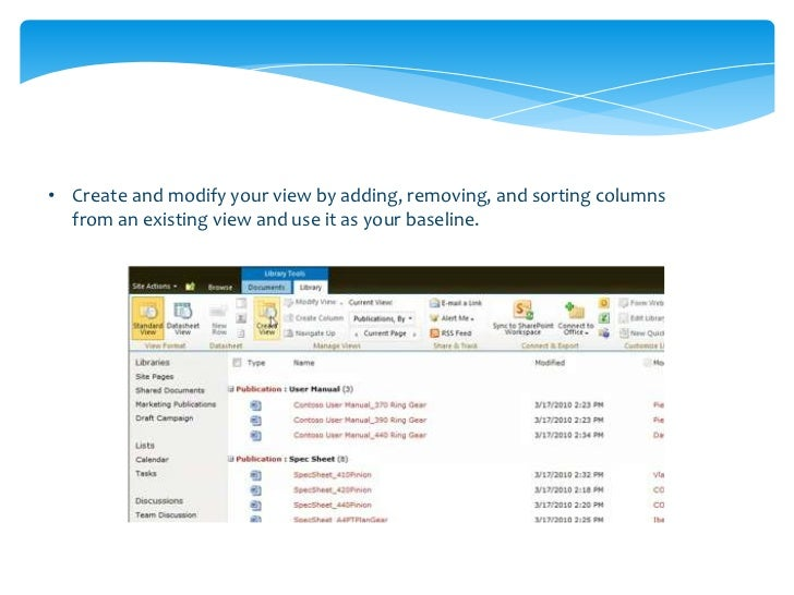 • A Meeting Workspace is  created by selecting the  option on a new calendar  items, allowing members  of the event team t...