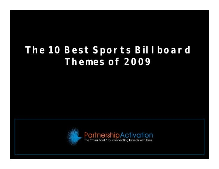 The 10 Best Sports Billboard  Themes of 2009