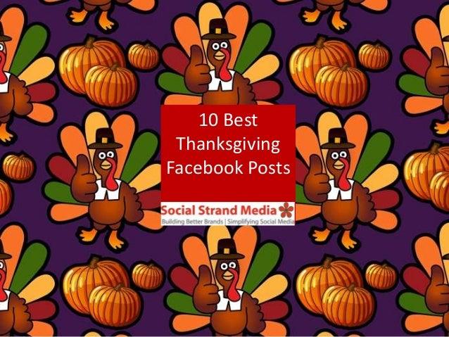 10 Best Thanksgiving Facebook Posts