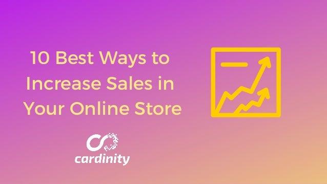 10Best Ways to Increase Sales in Your OnlineStore