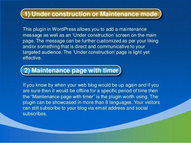 10 Best Website under Maintenance Mode WordPress Themes & Plugins slideshare - 웹