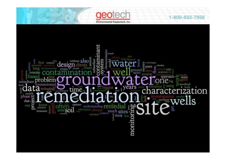GROUND WATER SAMPLING • WATER LEVEL & PRESSURE • WATER SAMPLE FILTRATION • GROUND WATER REMEDIATION • GEOPHYSICAL MEASUREM...