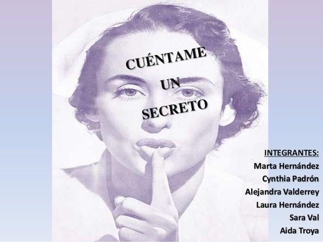INTEGRANTES: Marta Hernández Cynthia Padrón Alejandra Valderrey Laura Hernández Sara Val Aida Troya