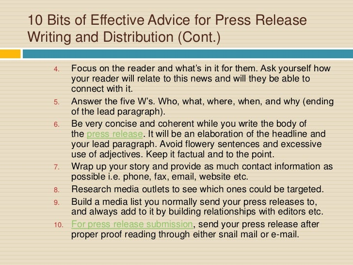 Targeted Press Release Distribution & Professional Press Release Writing Services since 198