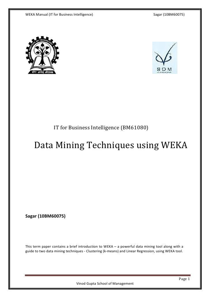 weka manual sagar rh slideshare net Weka Javadoc Weka Core Drill Parts List