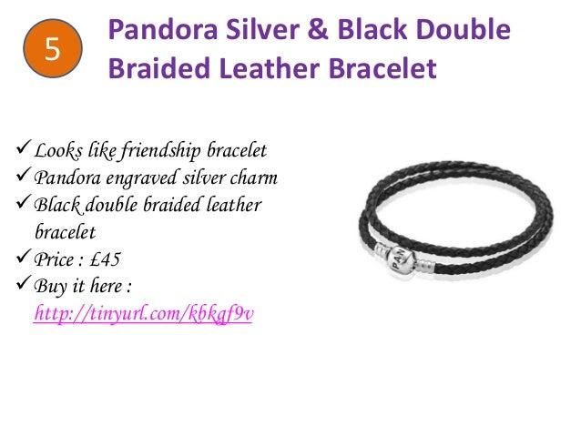Pandora Black Double Braided Leather Bracelet