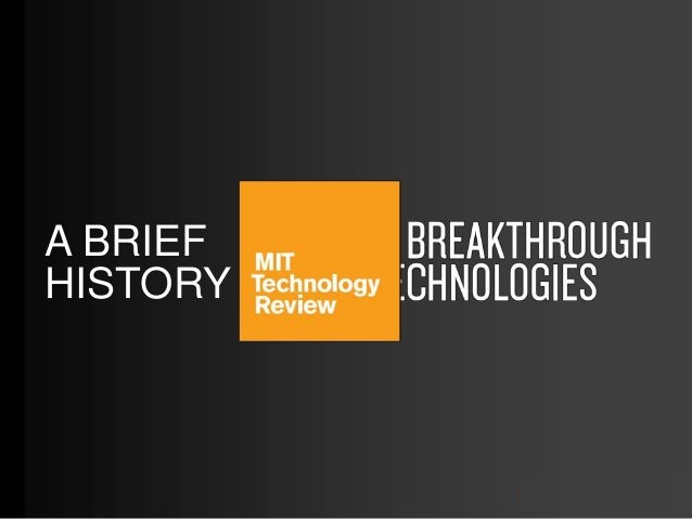 10 Breakthrough Technologies 2013, MIT Technology Review