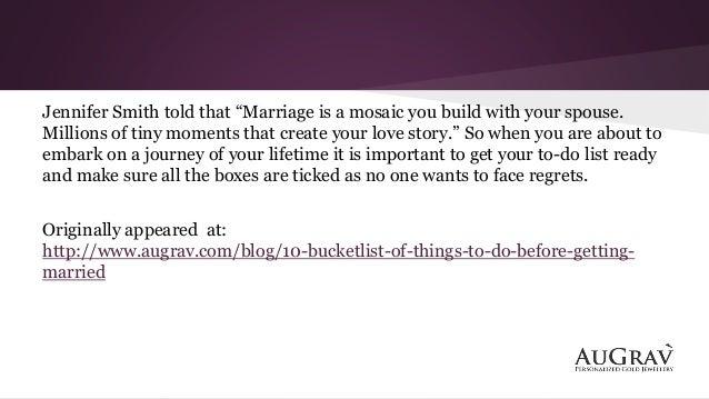 marriage bucket list