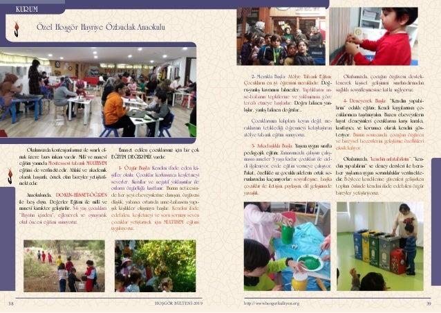 Anaokulu Yıllık Faaliyetler Yaz Okulu Programı 4140 http://www.hosgorkulliyesi.orgHOŞGÖR BÜLTENİ-2019 5-Gülümseyerek Başl...