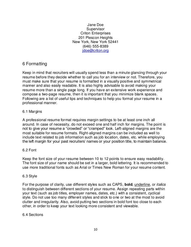 Trebuchet MS Notes  Recommended Resume Font