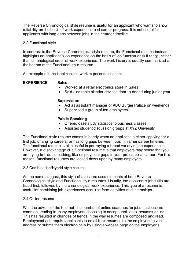 Functional Style Resume Nmdnconference Example Resume And