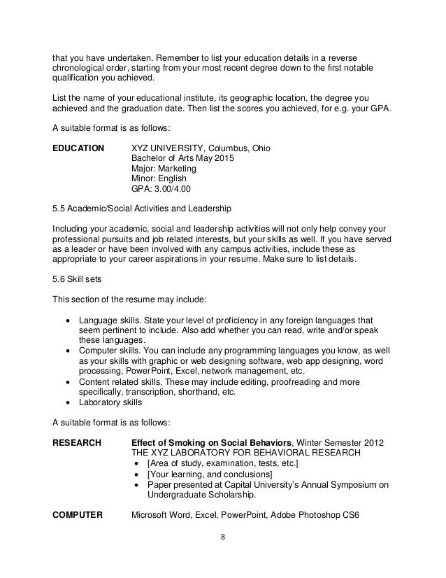 how to write resumes ebook