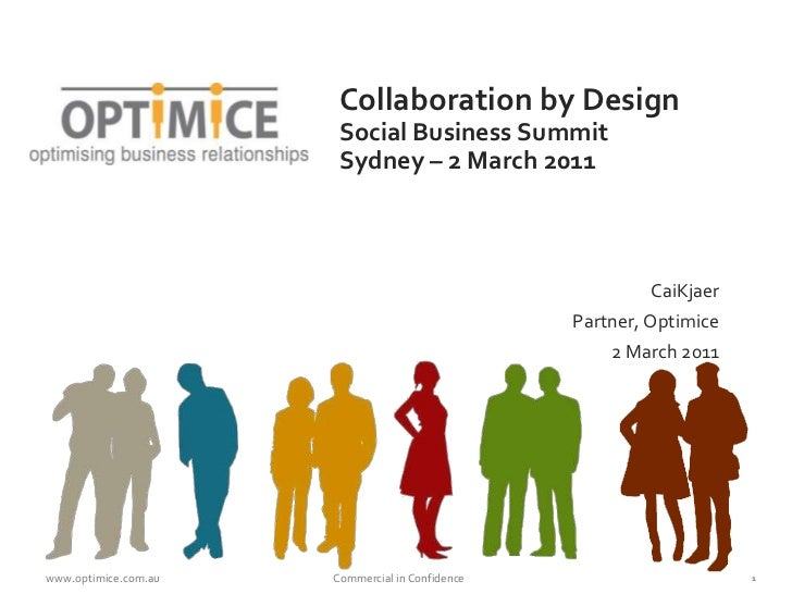 Collaboration by DesignSocial Business SummitSydney – 2 March 2011<br />CaiKjaer<br />Partner, Optimice<br />2 March 2011<...
