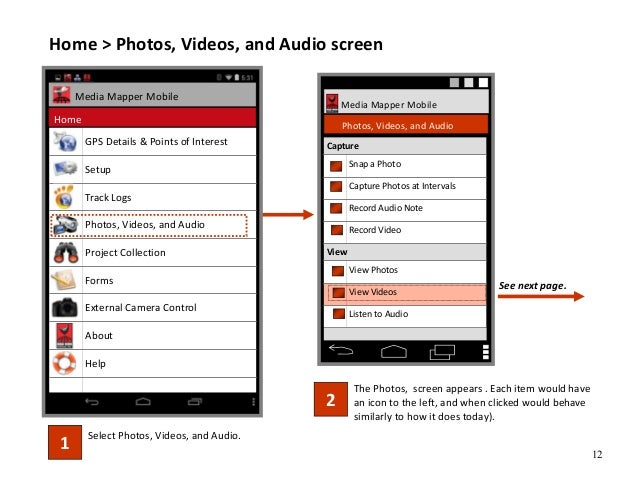 12 Home > Photos, Videos, and Audio screen Select Photos, Videos, and Audio. 1 The Photos, screen appears . Each item woul...