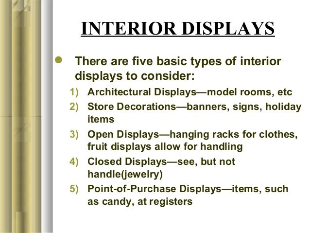 Types Of Exhibition Displays : Chapter visual merchandising and display