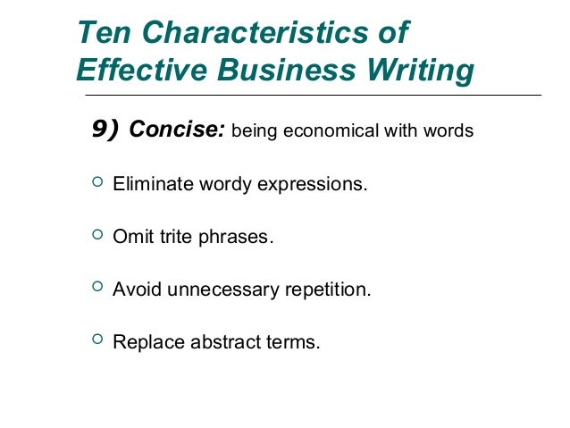 eliminating wordiness in business writing