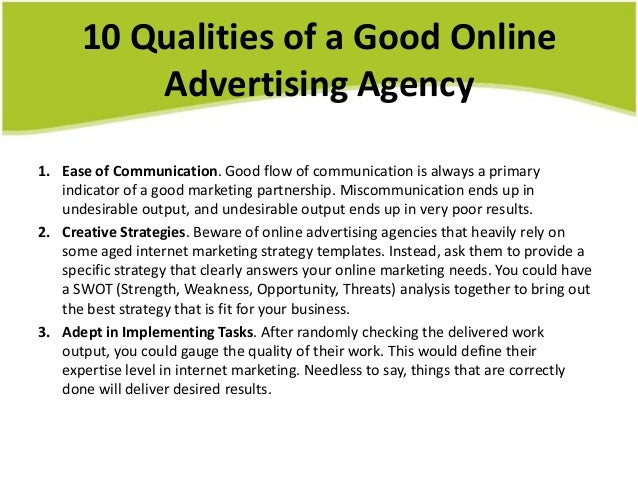 10 Characteristics of A Good and Bad Advertising Agency