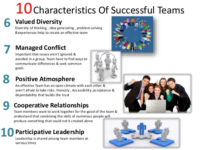 describe a successful team in which Team player: are you part of a team you need to be able to function as part of a team if you want to succeed as an effective manager.