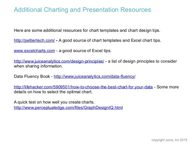 10 chart and slide design tips for better reports