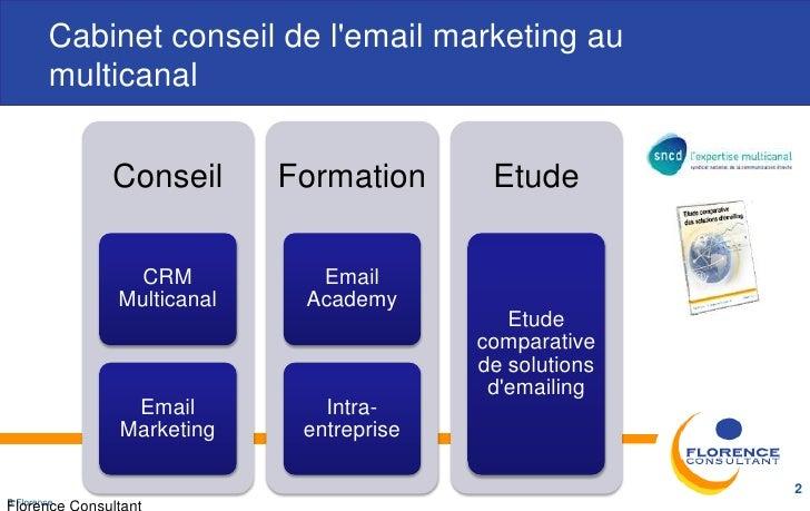 Cabinet conseil de lemail marketing au         multicanal             Conseil      Formation      Etude               CRM ...