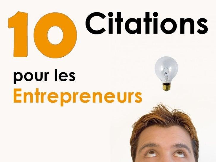 10 Citations Pour Les Entrepreneurs