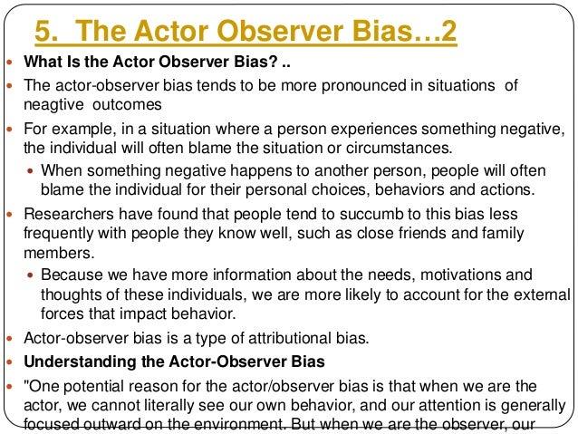 how to fix obersver bias
