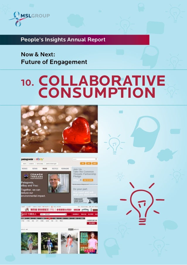 10. COLLABORATIVECONSUMPTIONPeoples Insights Annual ReportNow & Next:Future of Engagement