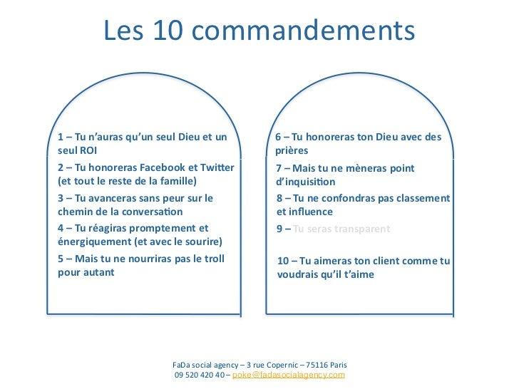 les 10 commandements des rp 2 0