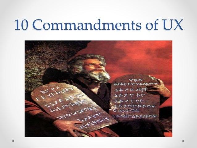10 Commandments of UX