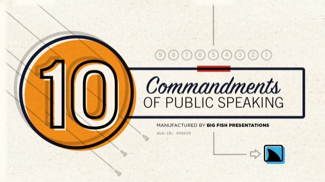 10 Commandments of Public Speaking