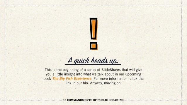 10 Commandments of Public Speaking Slide 2