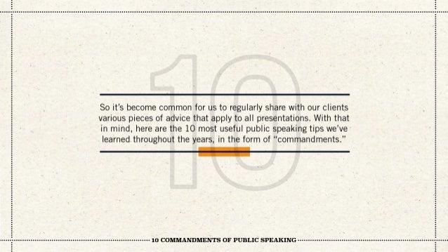 10 Commandments of Public Speaking Slide 3
