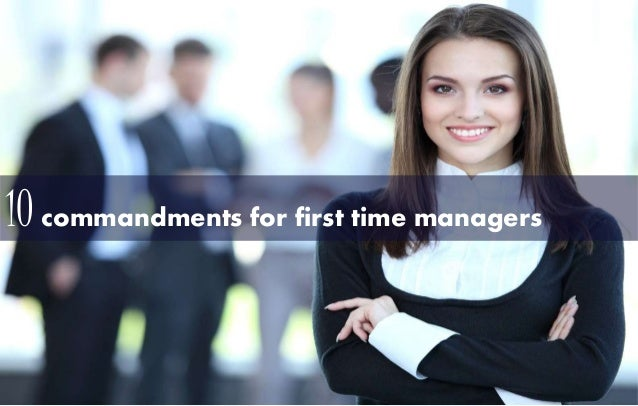 10 commandments for first time managers