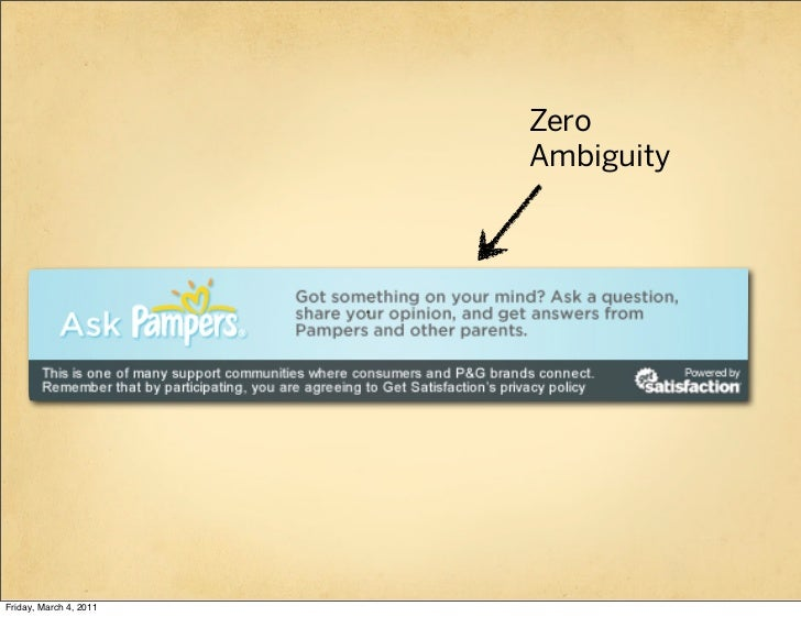 Zero                        AmbiguityFriday, March 4, 2011