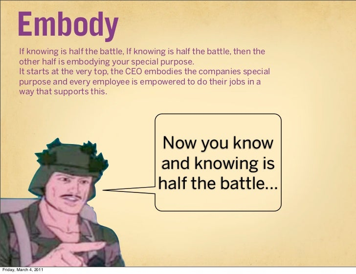 Embody        If knowing is half the battle, If knowing is half the battle, then the        other half is embodying your s...