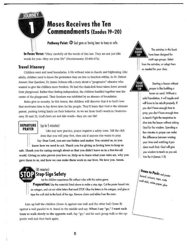 10 commandments lesson 1