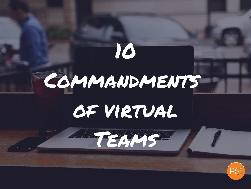 10 Commandments of Virtual Teams