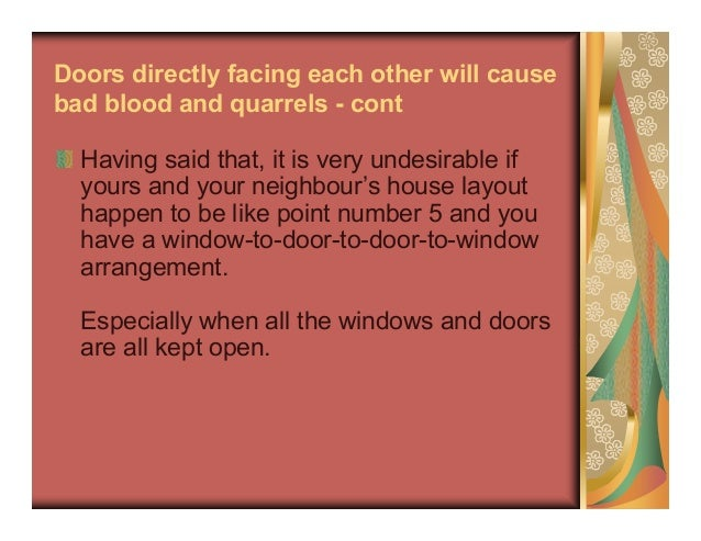 10 common misconceptions in feng shui for Feng shui doors facing each other