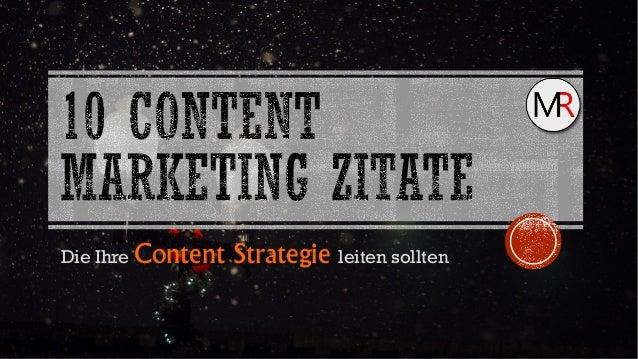 Die Ihre Content Strategie leiten sollten