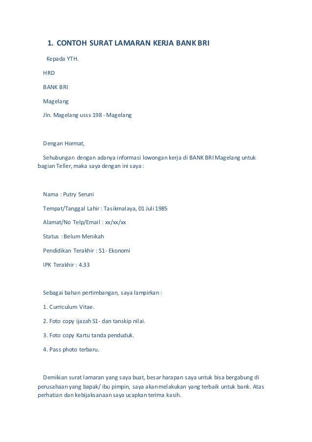 10 contoh surat lamaran kerja season 1