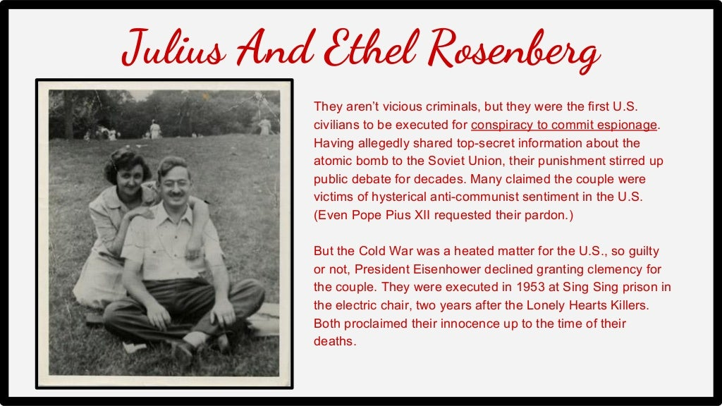 Julius And Ethel Rosenberg They