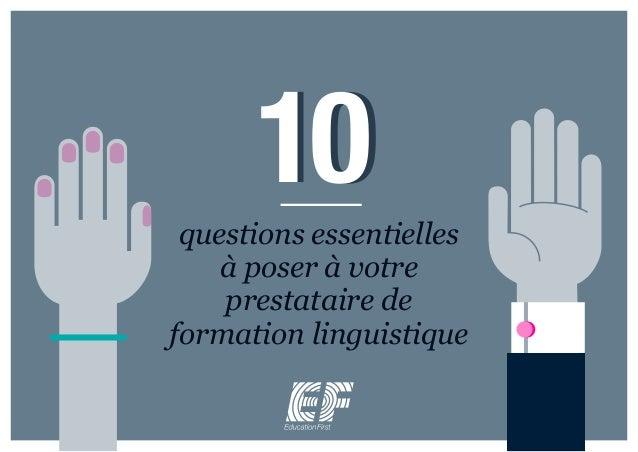 10questions essentielles à poser à votre prestataire de formation linguistique 10