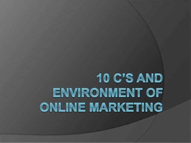 10 c's for Internet Marketers
