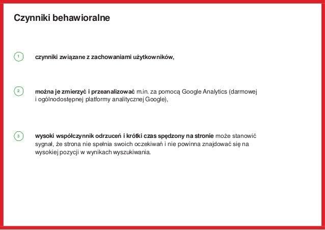 Czynniki behawioralne czynniki związane z zachowaniami użytkowników, można je zmierzyć i przeanalizować m.in. za pomocą Go...