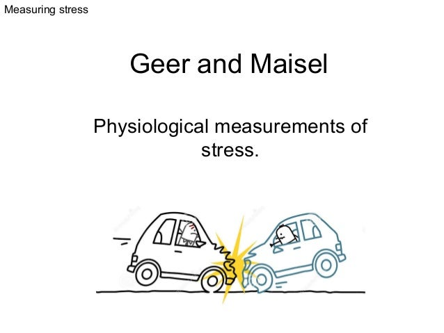 Measuring stress  Geer and Maisel Physiological measurements of stress.