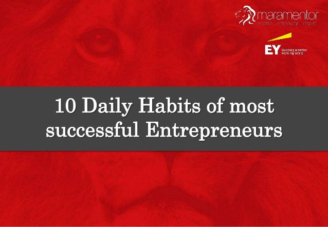 Entrepreneurs without a doubt have the busiest schedules.  Their day is full of planning, research & meetings because ther...