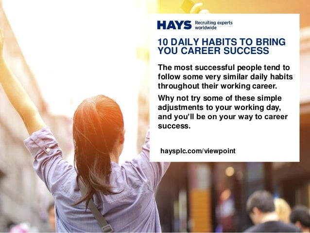 The most successful people tend to follow some very similar daily habits throughout their working career. Why not try some...