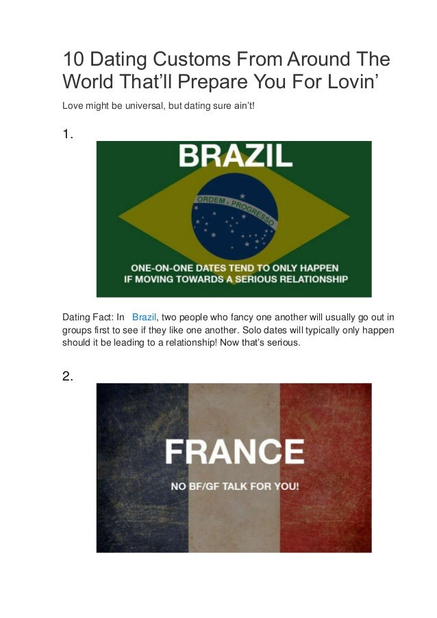 what are brazilian dating customs